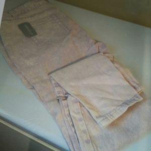 Tie dye plus sz12skinny jeans purple lightly thru